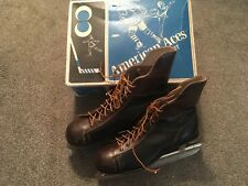Vintage American Aces Mens Ice Hockey Skates, Size 10
