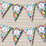 Dinosaur Colourful Personalised Children's Birthday Party Bunting Banner Garland
