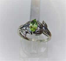 Peridot Ring... in Sterling Silver...0.5 carat marquise shaped gem.