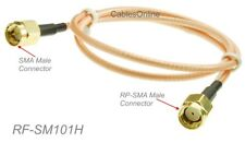 18-inch SMA Male to RP-SMA Male Gold plated RG316 Jumper RF Adapter Cable