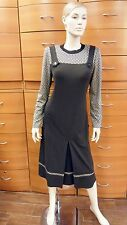 DRESS WEAR TO WORK MID-CALF CLASSIC MADE IN EUROPE PLUS SIZE LONG SLEEVE BROWN