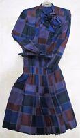Vintage Genuine 1970s LANVIN  100 % Silk Women Dress Size 8