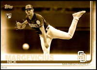 Nick Margevicius 2019 Topps Update Variations 5x7 Gold #US249 /10 Padres