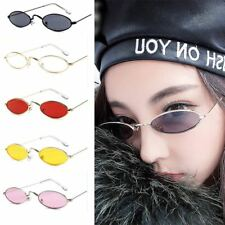 Women Vintage Sunglasses Retro Small Oval Metal Frame Eyewear Glasses Stylish