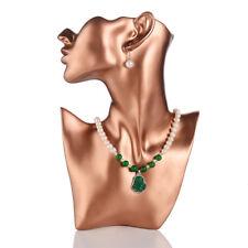Female Mannequin Half Head Display Eardrop Necklace Resin Rose Gold handiwork
