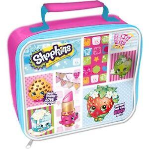 Shopkins Rectangular Lunch Box Bag - Insulated, Zip Closure School Lunch Bag