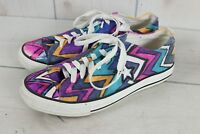 Converse One Star Pink Purple Womens Sz 9.5 Shoes Sneakers Wild Bright Colorful