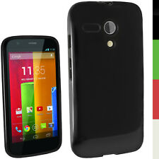 Motorola Moto G 4g iGadgitz TPU Case - Solid Black