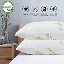Set 2 Pack Memory Foam Bed Pillow Queen King Size Shredded Bamboo Cover Comfort