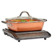 Copper Chef Portable Induction Cooker Cooktop Burner With Casserole Frying Pan