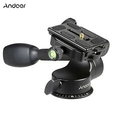 Andoer Q08 Video Tripod Ball Head 3-way Fluid Head Load 6KG