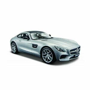 Maisto 31134 Mercedes AMG Gt Silver Scale 1:24 Model Car New! °
