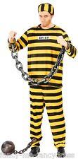 hommes JAUNE américain prisonnier Halloween déguisement costume tenue grand