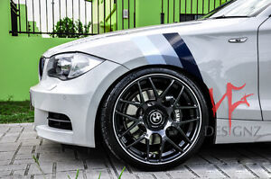 Fits BMW Z3 Z4 320i 328i 3 COLOR Fender Hash Mark grand Sport Stripe  M3 M5 M6!