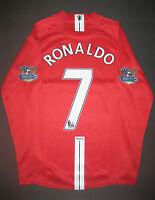 2007-2009 Nike Manchester United Cristiano Ronaldo Long Sleeve Jersey Shirt Kit