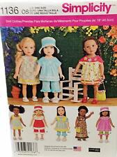 New Pattern 1136 Doll Clothes Neat Everyday Collection fit 18 inch American Girl