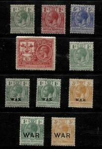BRITISH HONDURAS **************************** 1915-1921 MINT SETS