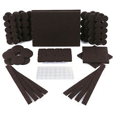 150 Pack Furniture Pads - 118 Felt Pads Brown 5mm Thick & 32 Rubber Bumpers
