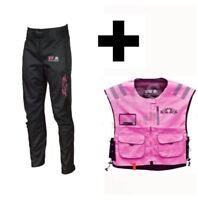 Ladies Motorcycle Motorbike Shannon Waterproof Wind proof Trousers With Hiviz