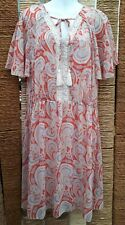 GEORGE at ASDA Ladies Pink Mix Paisley Floral Short Sleeve Dress Size 18
