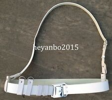 SURPLUS CHINESE ARMY PLA LEATHER white BELT AND CROSS SHOULDER STRAP
