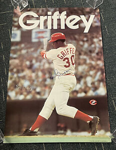 "Ken Griffey signed original Cincinnati Reds SGA poster 1978 24x36"""