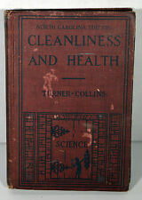 1926 Antique Book Cleanliness And Health Education North Carolina Edition