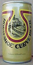 HORSESHOE CURVE BEER CAN w/ TRAIN Railroad Altoona, Pittsburgh PENNSYLVANIA 1/1+