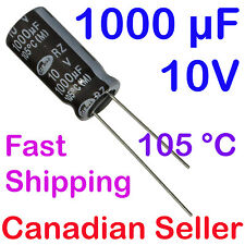2pcs 1000uF 10V 10x20mm 105C SAMWHA RZ Extremely low Impedance LCD TV AUDIO PC