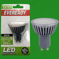 10x 4W =50W Eveready LED Ultra Basse Consommation Allumage Instantané GU10