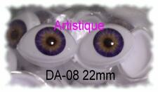 ACRYLIC LIFE LIKE DOLL EYES ~ 8mm OVAL ~ BEAUTIFUL, MUST READ RED DESCRIPTION