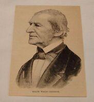 1887 magazine engraving ~ RALPH WALDO EMERSON