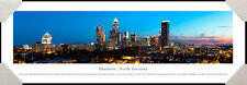 Charlotte, North Carolina City Night Skyline Framed Poster Picture III