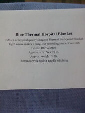 HOSPITAL THERMAL BLANKET 66x90 in. 100% Cotton BLUE
