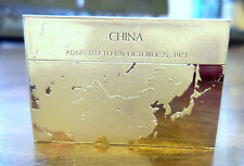 Franklin Mint Sterling Silver Ingot - Flag of the United Nations CHINA 445 Grain