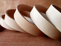 "40"" STRAPS NATURAL VEG TAN COWHIDE 1.5mm or 2mm TUSCANY LEATHER VARIOUS WIDTHS"