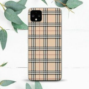Black Beige Checkered Stripes Aesthetic Case For Google Pixel 2 3 3a 4 4a 5 XL