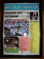 Coventry City 3 Tottenham Hotspur 2 - 1987 FA Cup final - framed print