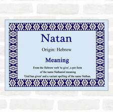 Natan Name Meaning Blue Certificate