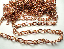 10 FT -  COPPER COATED STEEL FIGARO STYLE CHAIN - M51