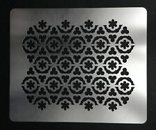 Moroccan Style Lattice Filigree Trellis Stainless Steel Stencil 8cm x 10cm