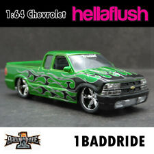 1:64 Badd Ride Chevrolet S-10 Truckin Pickup Diecast Car Model
