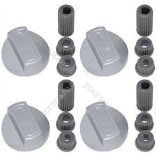 4 X Rosieres Universal Universal Cooker/Oven/Grill Control Knob And Adaptors Sil