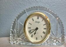 "Vintage Crystal Clock Half Moon Shape 4 x 6"" Concept"