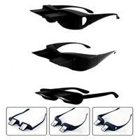 New Horizontal Prism Angled Reading Glasses For Lazy Reader Lying Down Watching