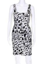 Artelier Nicole Miller Womens Abstract Geometric Sheath Dress Cotton Size 2