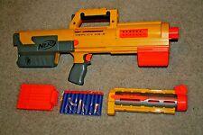 Nerf Deploy N-Strike CS-6 Yellow BONUS Clip Dart Gun Toy blaster tactical Rare