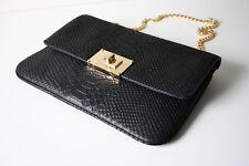 MICHAEL KORS LEDERTASCHE/CLUTCH SLOAN schwarz/black Emboosed Leder
