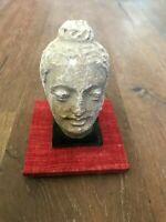 Gandharan stucco buddha head mounted