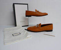 Gucci NEW Tan Leather Shoes Slipper Loafer Horse Bit Bnib Size 40 Uk 7 Rrp £575